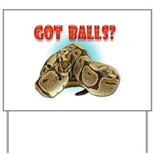 Python Snake - Got Balls Yard Sign
