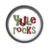 Yule Rocks Yulefest Pagan Holiday Wall Clock