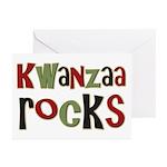 Kwanzaa Rocks African American Greeting Cards (Pk