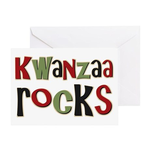 Kwanzaa Rocks African American Greeting Card