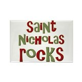 Saint Nicholas Rocks Rectangle Magnet