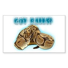 PYTHON SNAKE - GOT BALLS? II Rectangle Decal