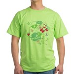 Modern Art Peace Collage Green T-Shirt