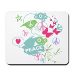 Modern Art Peace Collage Mousepad