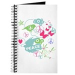 Modern Art Peace Collage Journal