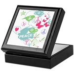 Modern Art Peace Collage Keepsake Box