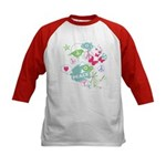 Modern Art Peace Collage Kids Baseball Jersey