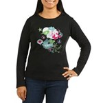 Modern Art Peace Collage Women's Long Sleeve Dark