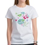 Modern Art Peace Collage Women's T-Shirt