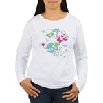 Modern Art Peace Collage Women's Long Sleeve T-Shi