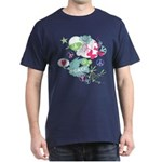 Modern Art Peace Collage Dark T-Shirt