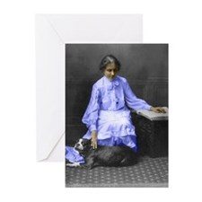 womens_history_helen_keller PLAIN Greeting Cards