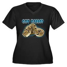 PYTHON SNAKE - GOT BALLS? II Women's Plus Size V-N