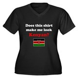 Make Me Look Kenyan Women's Plus Size V-Neck Dark