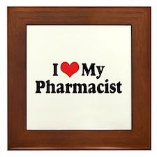 I Love My Pharmacist Framed Tile