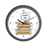 Cat Philosophy Paw Print Numbered Wall Clock