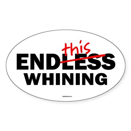 EndThis Whining Oval Sticker