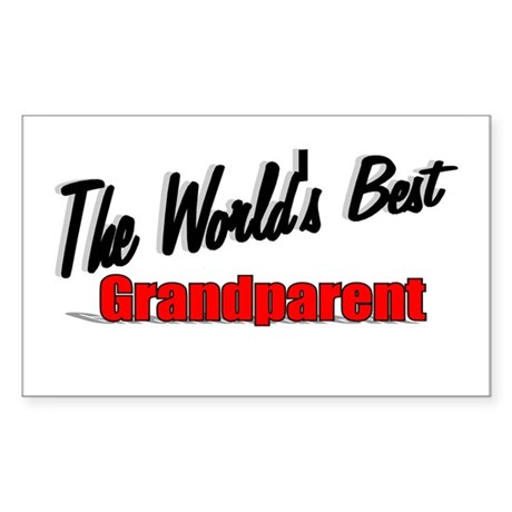 """The World's Best Grandparent"" Sticker (Rectangula"