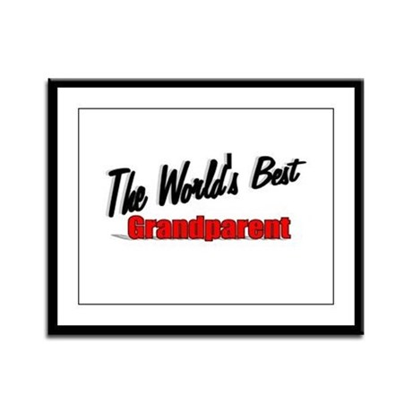 """The World's Best Grandparent"" Framed Panel Print"