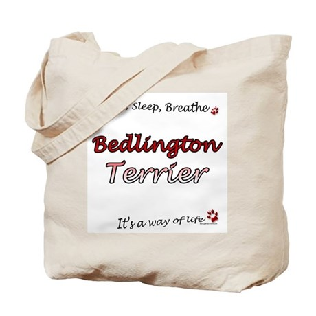 Bedlington Breathe Tote Bag