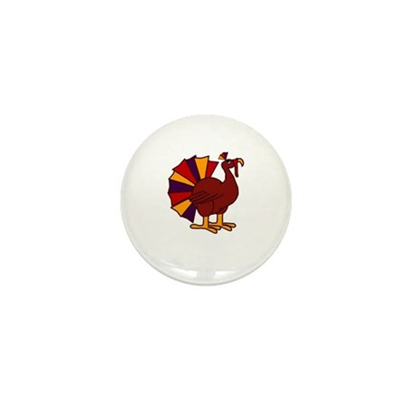 Funny Thanksgiving Turkey Mini Button