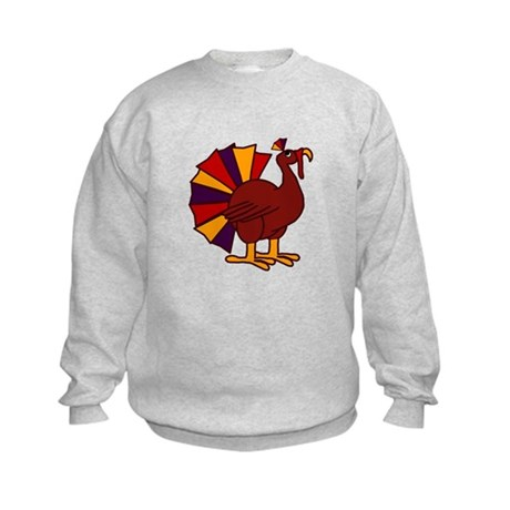 Funny Thanksgiving Turkey Kids Sweatshirt