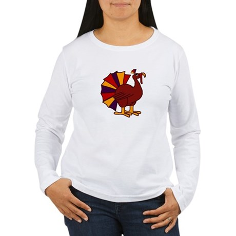 Funny Thanksgiving Turkey Women's Long Sleeve T-Sh