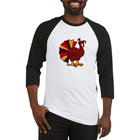Funny Thanksgiving Turkey Baseball Jersey