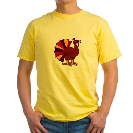 Funny Thanksgiving Turkey Yellow T-Shirt