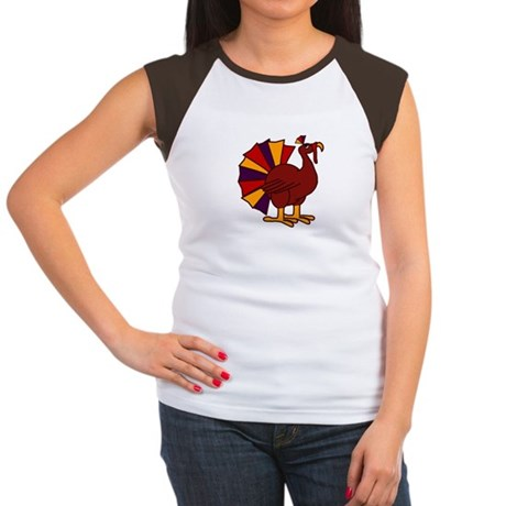 Funny Thanksgiving Turkey Women's Cap Sleeve T-Shi