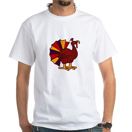 Funny Thanksgiving Turkey White T-Shirt