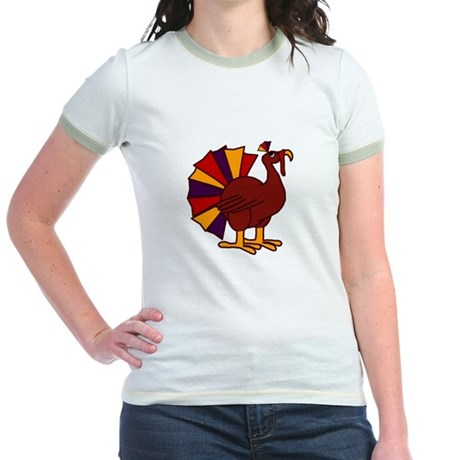 Funny Thanksgiving Turkey Jr. Ringer T-Shirt