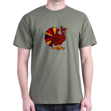 Funny Thanksgiving Turkey Dark T-Shirt