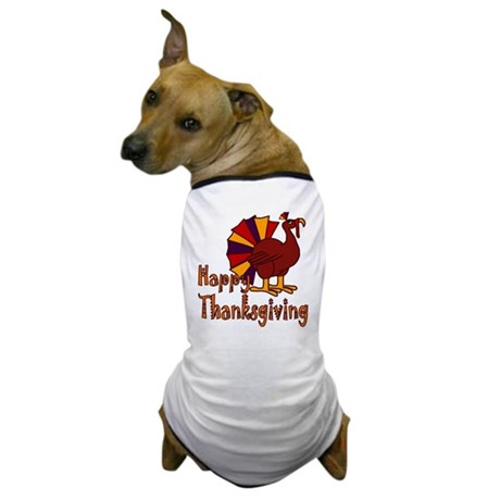 Cute Turkey Happy Thanksgiving Dog T-Shirt