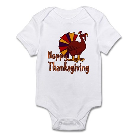 Cute Turkey Happy Thanksgiving Infant Bodysuit