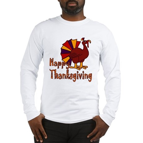 Cute Turkey Happy Thanksgiving Long Sleeve T-Shirt