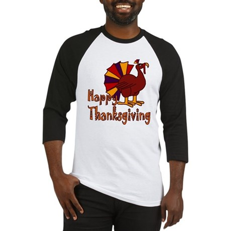 Cute Turkey Happy Thanksgiving Baseball Jersey