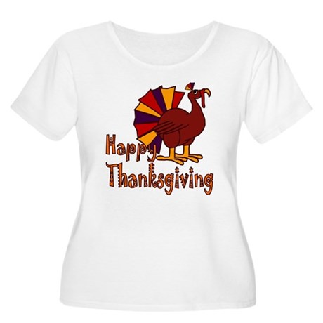 Cute Turkey Happy Thanksgiving Women's Plus Size S