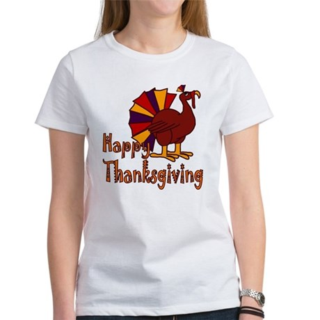 Cute Turkey Happy Thanksgiving Women's T-Shirt