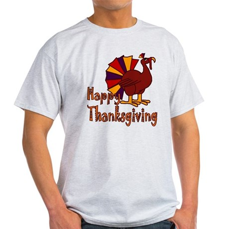 Cute Turkey Happy Thanksgiving Light T-Shirt