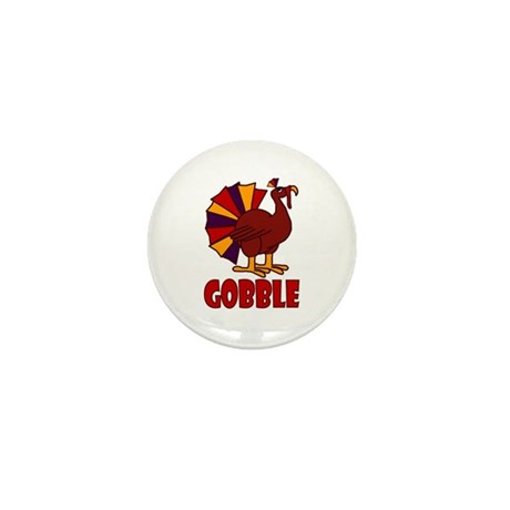 Thanksgiving Turkey Gobble Mini Button