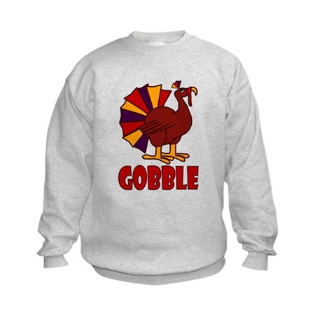 Thanksgiving Turkey Gobble Kids Sweatshirt