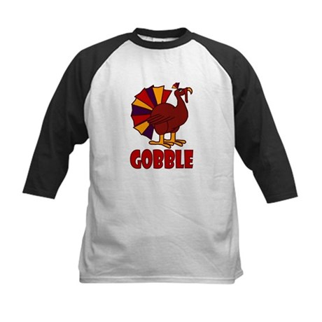 Thanksgiving Turkey Gobble Kids Baseball Jersey
