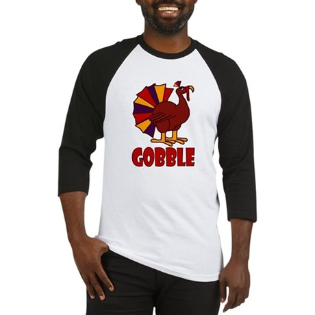 Thanksgiving Turkey Gobble Baseball Jersey