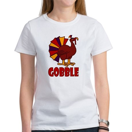 Thanksgiving Turkey Gobble Women's T-Shirt