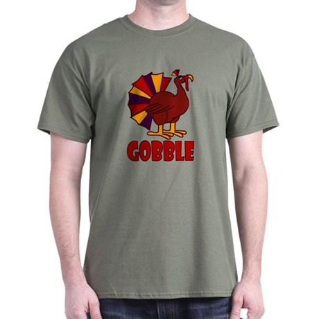 Thanksgiving Turkey Gobble Dark T-Shirt