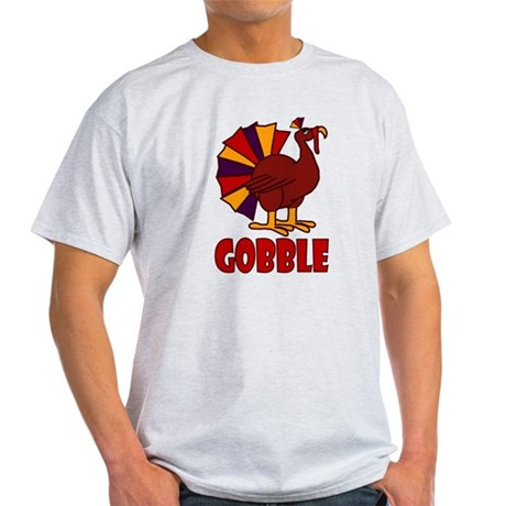 Thanksgiving Turkey Gobble Light T-Shirt