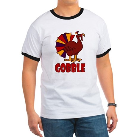 Thanksgiving Turkey Gobble Ringer T