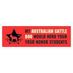 Australian Cattle Dog - Honor Students Sticker