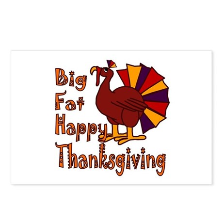 Big Fat Happy Thanksgiving Postcards (Package of 8